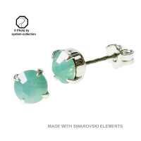 Stecker mit Swarovski® Kristall Pazifik Opal