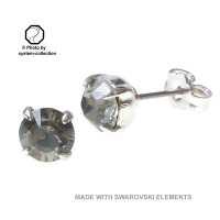 Stecker mit Swarovski Kristall Farbe: S. Diamant