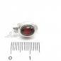 Mobile Preview: 925er Silber Ohrstecker mit Granat
