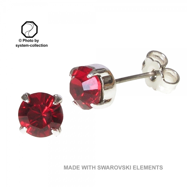 Stecker mit SWAROVSKI ELEMENTS Fabe: Siam