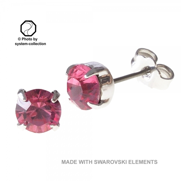 Stecker mit SWAROVSKI ELEMENTS Fabe: Rose