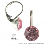 8mm Ohrringe mit Swarovski Elements in der Farbe Rose Hell